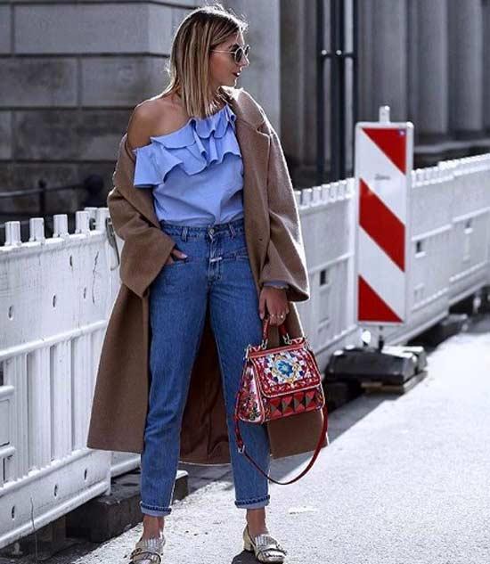 Асимметричный крой блузки