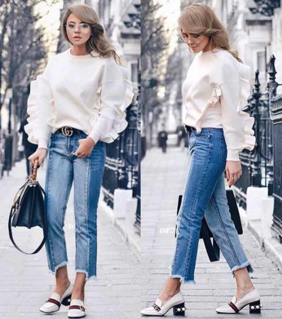С чем носить блузку с рбшами по-модному и по-новому