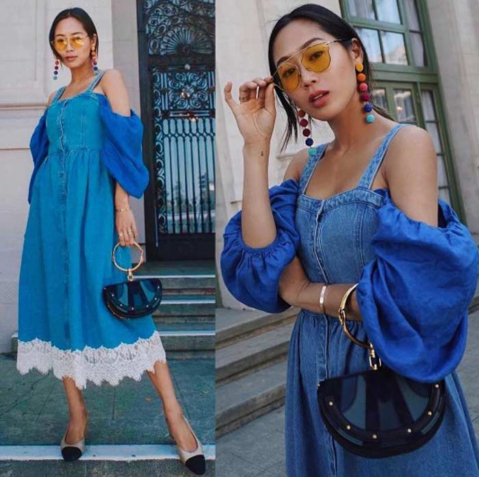 Джинсовый сарафан модная модель 2017