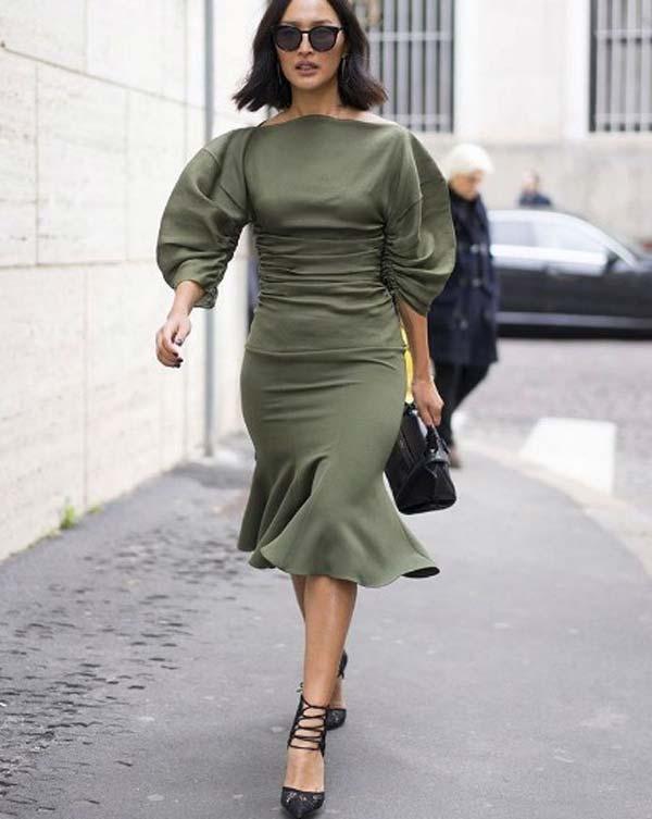 Цвет зелени, платье фасон на лето 2017