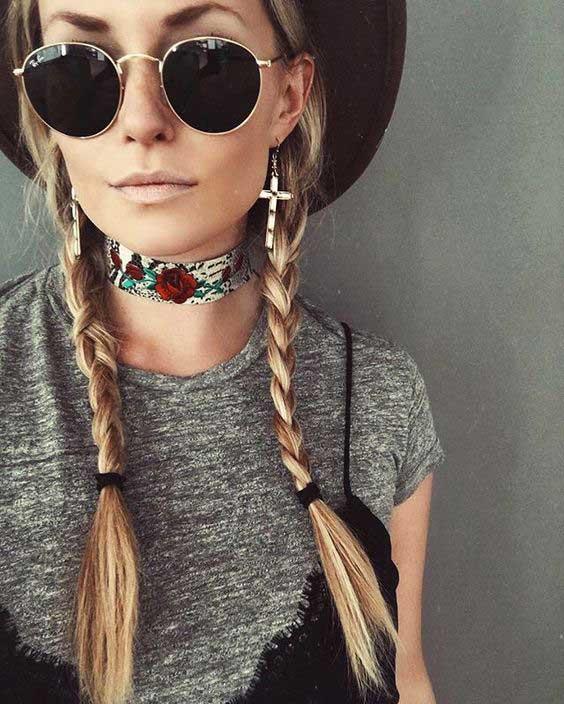 Boho style / look / чокер bohemian style + очки + шляпа, платье