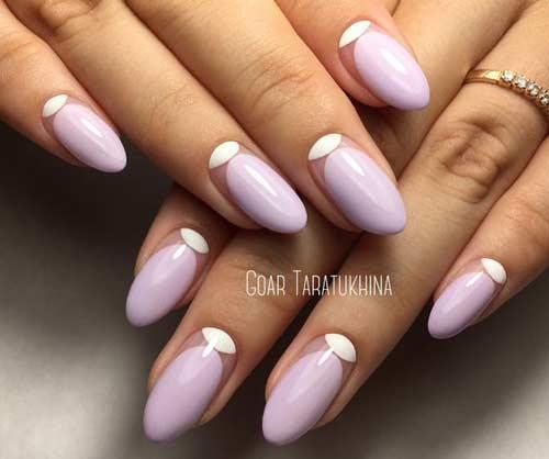 Лиловый цвет ногтей