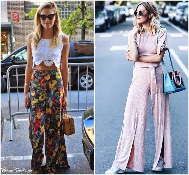 Палаццо цвета и принты брюк на лето