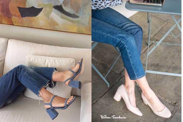 Босоножки и туфли на каблуке