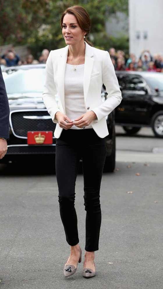 Kate Middleton белый блейзер