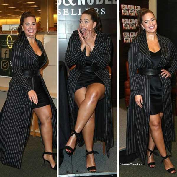 Эшли Грэм - платье с удлиненным кардиганом