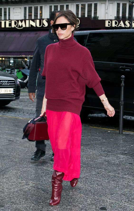 Victoria Beckham монохромный образ