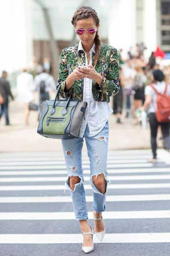 Джинсы с огромными джинсами