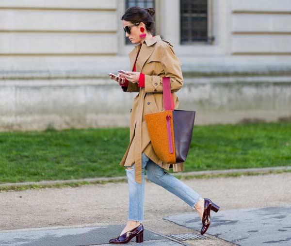 Тренкоч - стритстайл с недели моды в Париже