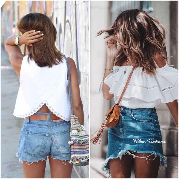 Шорты против джинсовой юбки