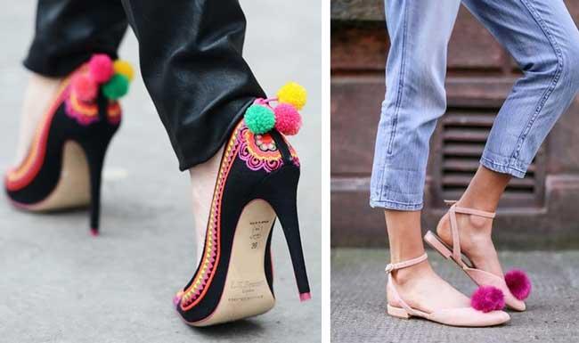 Помпоны на обуви