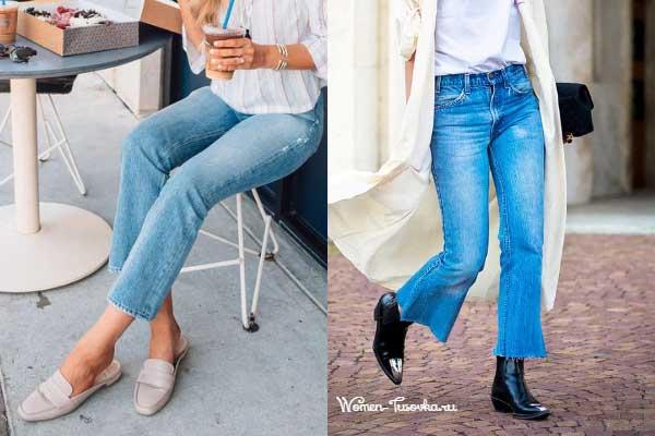 Стильные сочетания с расклешенными джинсами