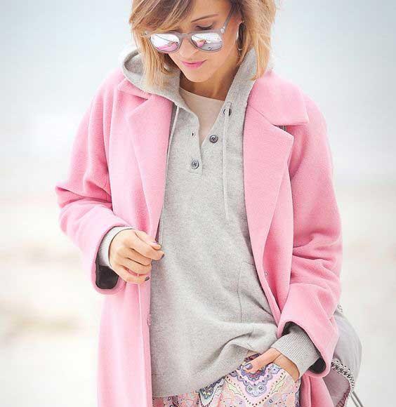 Серый+розовый