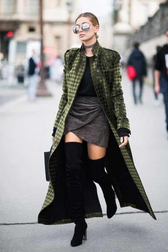 Серый+зеленый уличный стиль