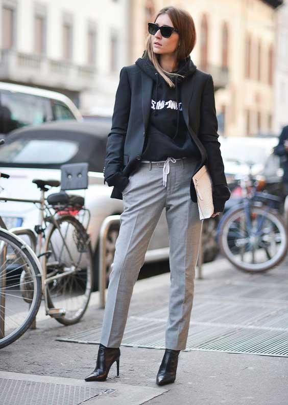 Уличный стиль с серым цветом