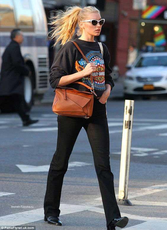 Эдьза - образ с черными джинсами