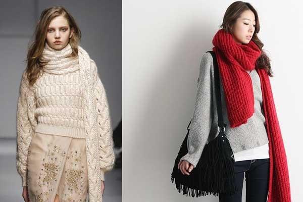 Длинные шарфы - тренд осени