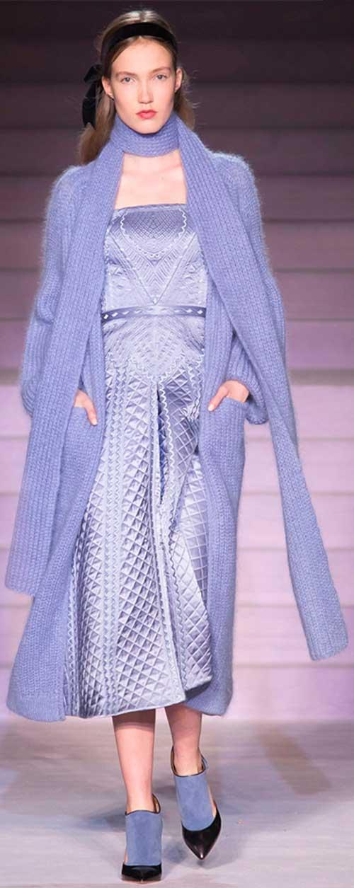 Модный цвет вязаного шарфа