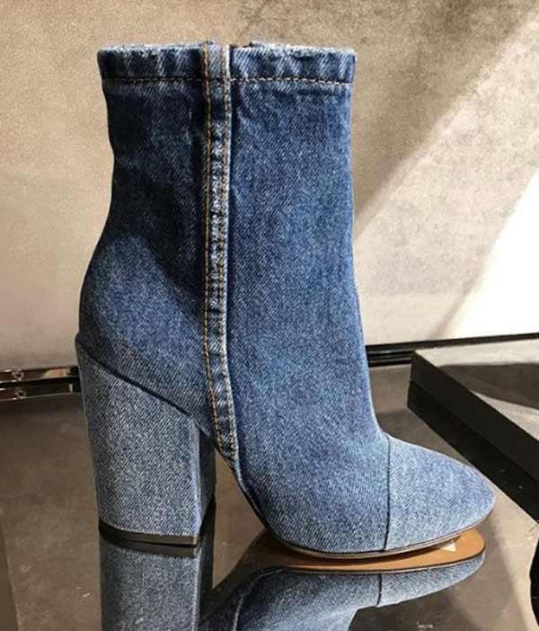 Модные джинсовые модели ботильонов