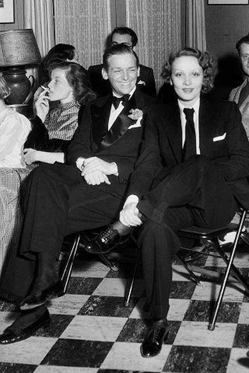 Marlene Dietrich, Douglas Fairbanks Jr. и Kate Hepburn