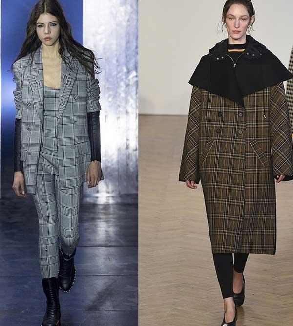 Пальто клетка тенденции