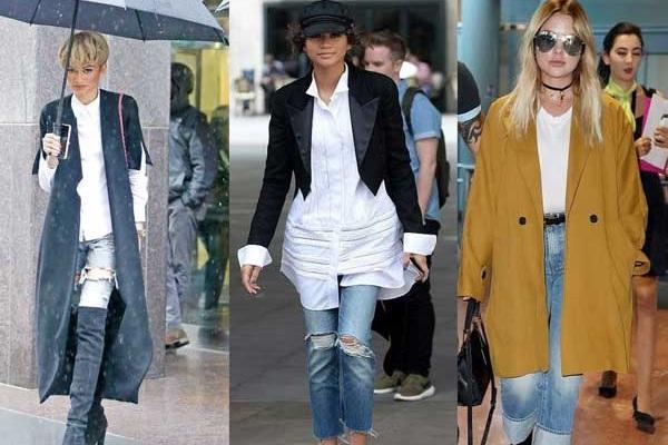 С чем модно носить джинсы осенью: 10 луков звезд на любой вкус