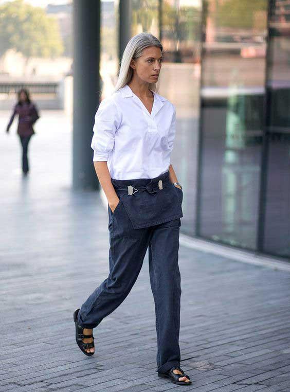 Джинсы+ белая рубашка