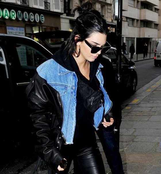 Джинсовая куртка под кожаную куртку