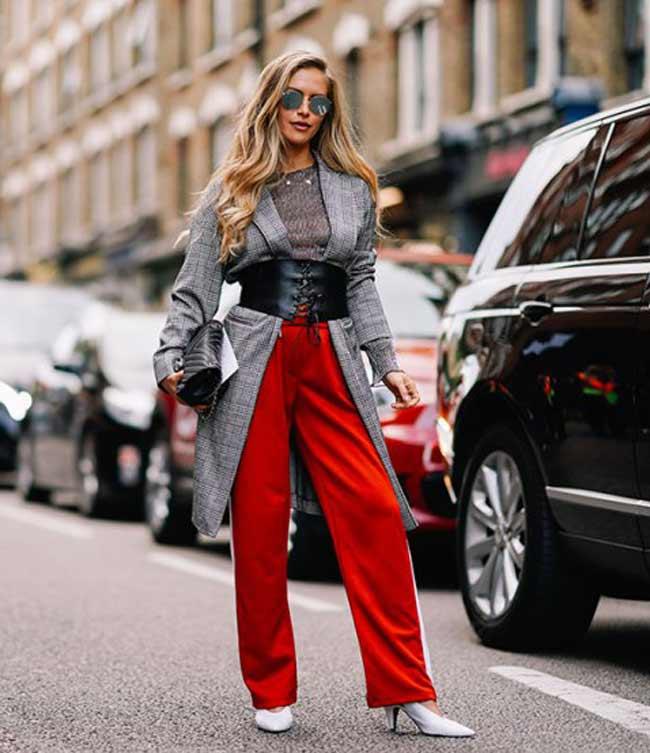 Street Style: интересные образы с Недели моды в Лондоне весна 2018