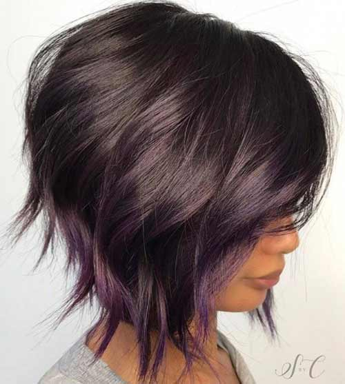 Фиолетовое сомбре