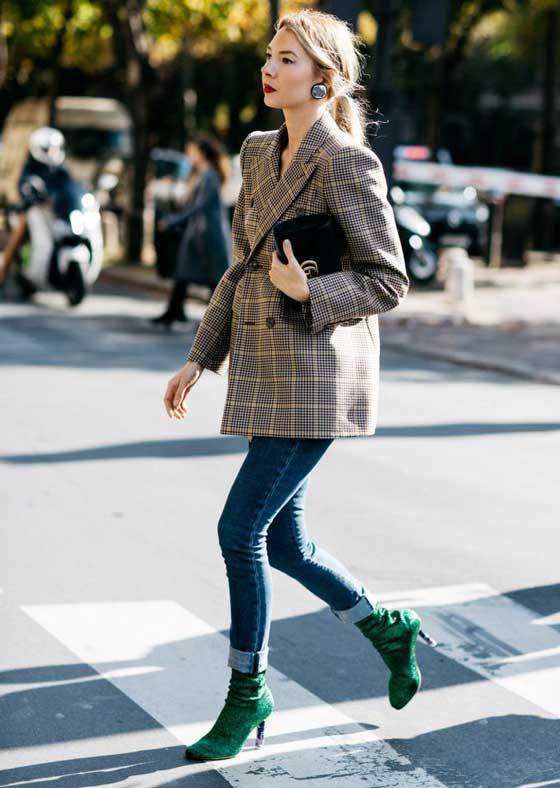 Обувь с блеском