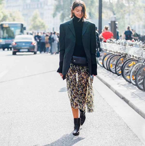 С чем носить объемный пиджак, показывают модницы в Париже