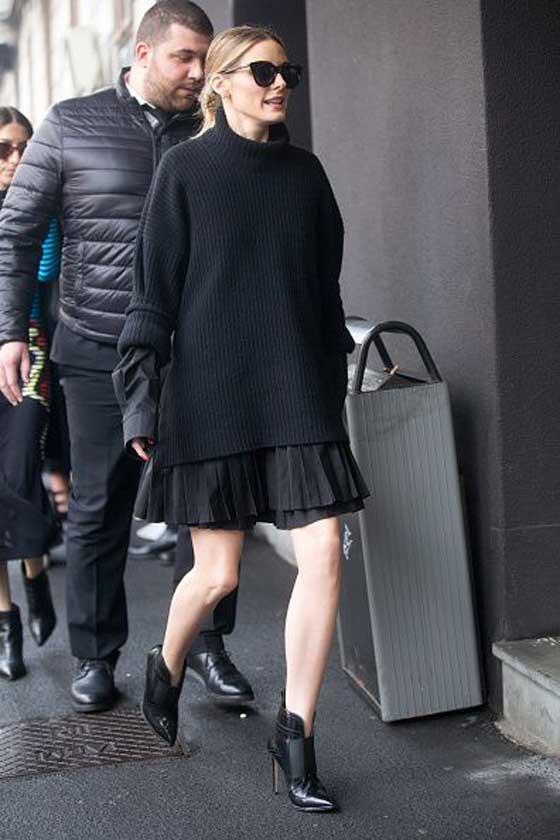 Черный свитер оверсайз - Оливия Палеро