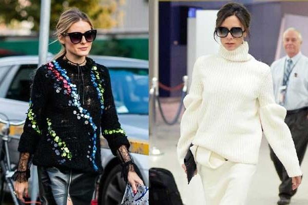 В поисках модного свитера: вдохновляемся лучшим выбором Оливии Палермо, Виктории Бекхэм