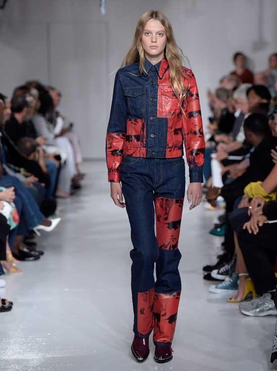 Джинсовый костюм на осень, весну, коллекция Calvin Klein