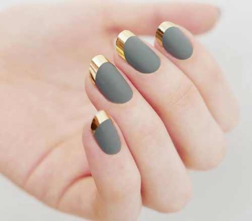 Matte nails и chrome