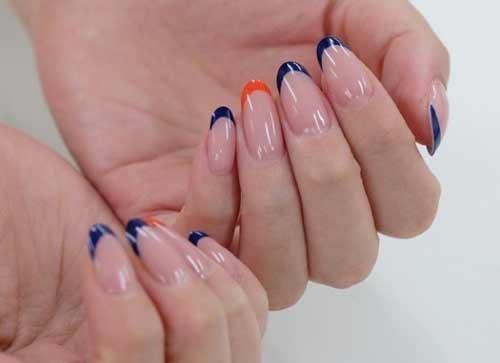 Синие и оранжевые кончики