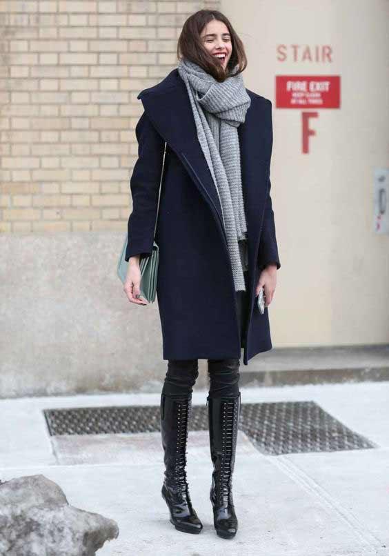 Скандинавский стиль, шарф