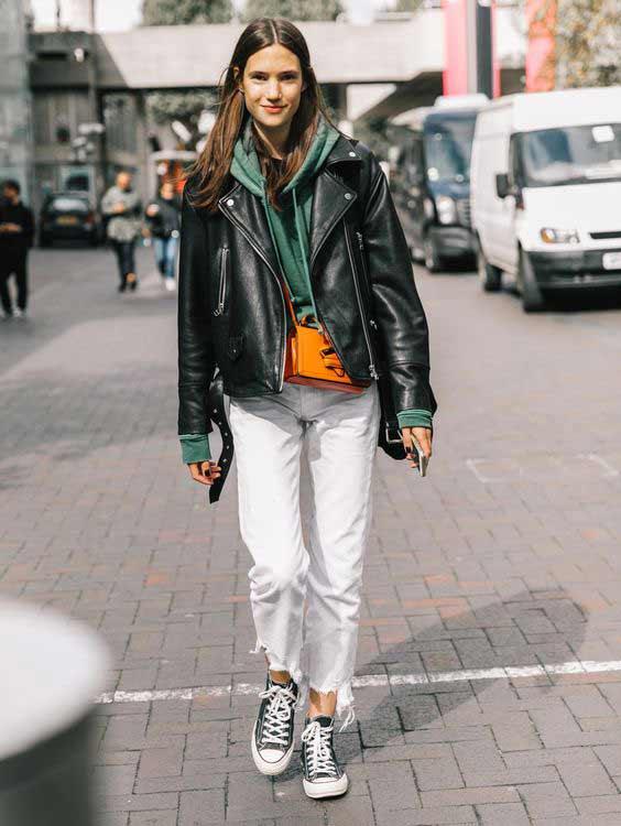 Кеды + прямые брюки