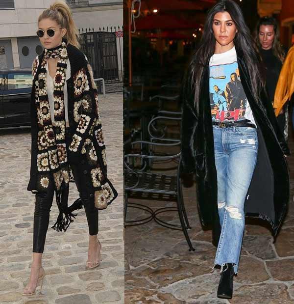 Кардиган с джинсами и легинсами