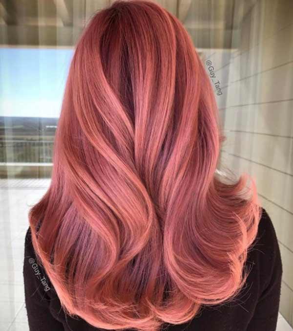 Красное золото - оттенок волос