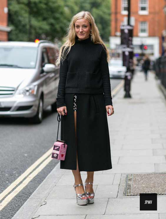 Монохромный наряд и правильная юбка