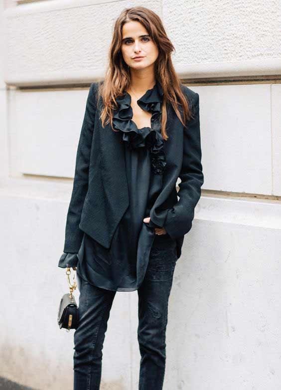 Романтическая блуза + джинсы