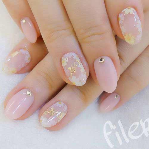 Розовый с цветочками