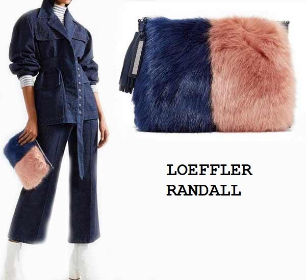 LOEFFLER RANDALL  модная сумка с мехом
