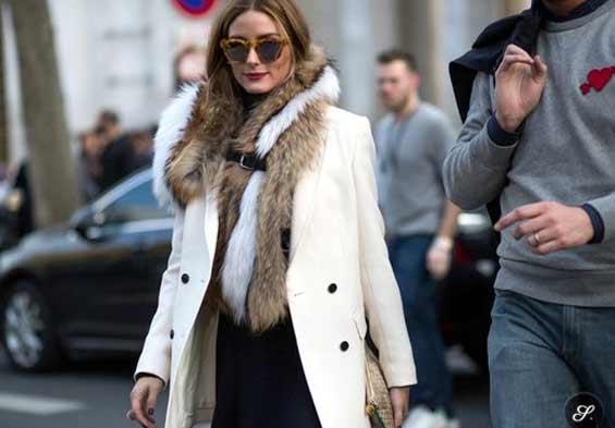 Белое пальто тренд
