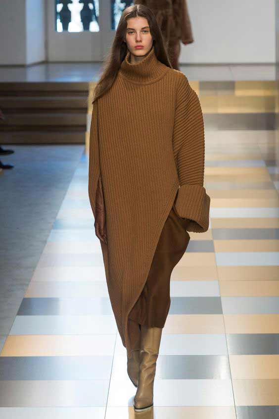 Асимметричное платье свитер