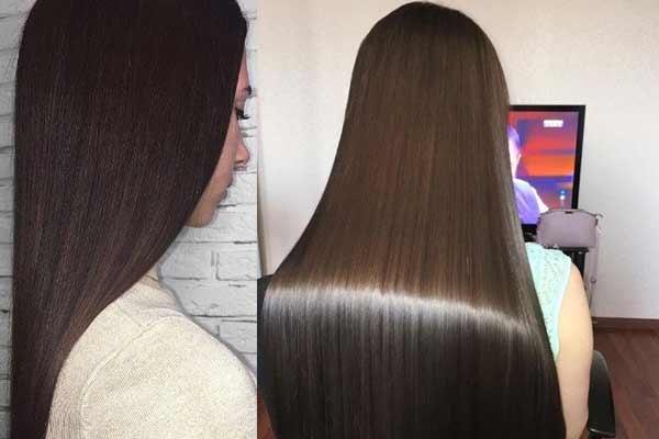 Волосы после обработки волос