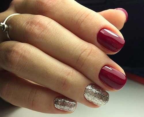 Малиновый цвет для коротких ногтей
