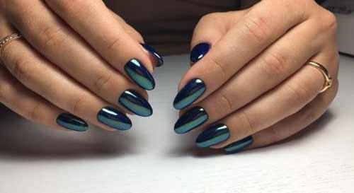 Зеркальный сине-зеленый цвет